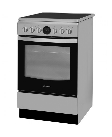 INDESIT Cooker IS5V8CHX/E Hob type Vitroceramic, Oven type Electric, Stainless steel, Width 50 cm, Grilling, Electronic, 57 L, D