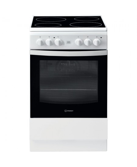 INDESIT Cooker IS5V8GMW/E Hob type Vitroceramic, Oven type Electric, White, Width 50 cm, Grilling, 57 L, Depth 60 cm