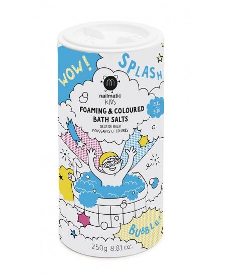 Spalvota putojanti vonios druska vaikams NAILMATIC KIDS, mėlyna, 250 g