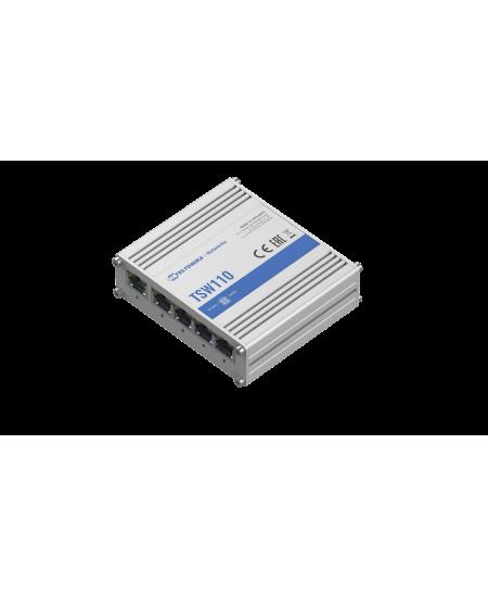 Teltonika Switch TSW110 PoE passive, Unmanaged, 1 Gbps (RJ-45) ports quantity 5