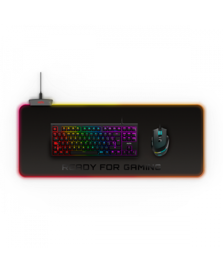 Energy Sistem ESG P5 RGB Gaming mouse pad, 800 x 300 x 4 mm, XL-size; LED colours: RGB LEDs with 5 light effects; Connection: US