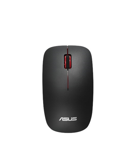 Asus WT300 RF Optical mouse, Wireless connection, No, Black/Red