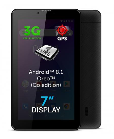 "Allview AX503 7 "", Black, LCD, 1024 × 600 pixels, Cortex-A7 Quad-Core, 1.3 GB, 8 GB, 3G, Wi-Fi, Front camera, 2 MP, Blueto"