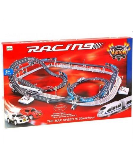 Automobilių lenktynių ir traukinio bėgių trasa RACE TRACK, 2in1