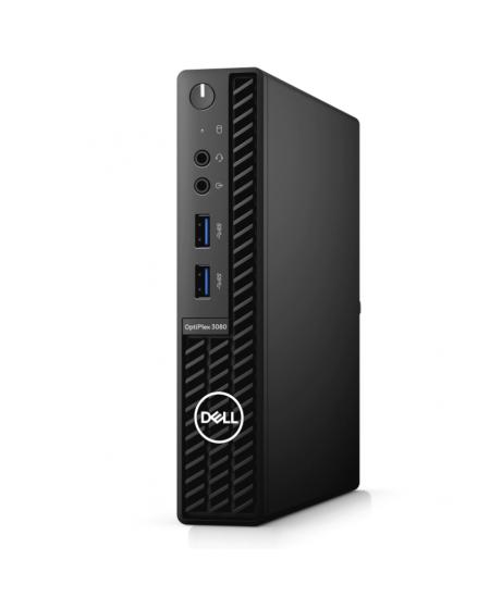Dell OptiPlex  3080 Desktop, Micro, Intel Core i5, i5-10500T, Internal memory 8 GB, DDR4 non ECC, SSD 256 GB, Keyboard language
