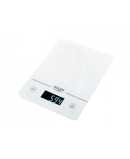 Adler Kitchen scales AD 3170 Maximum weight (capacity) 15 kg, Graduation 1 g, Display type LCD, White