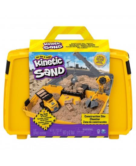 """KINETIC SAND Kinetinio smėlio rinkinys """"Statybų aikštelė"""""""