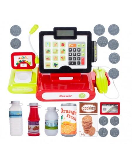 Kasos aparato rinkinys su produktais