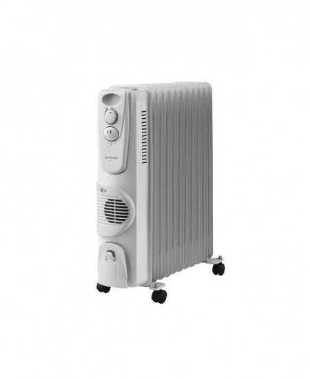 ORAVA OH-11A  Electric oil heater,  1000 W, 1500 W and 2500  W, Number of power levels 3, White