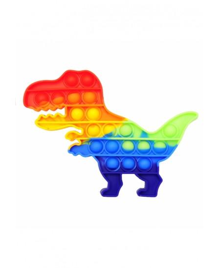 Antistresinis suvenyras POP IT Spalvotas dinozauras