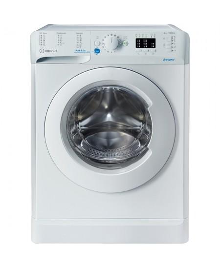 INDESIT Washing machine BWSA 61051 W EU N Energy efficiency class F, Front loading, Washing capacity 6 kg, 1000 RPM, Depth 42.5