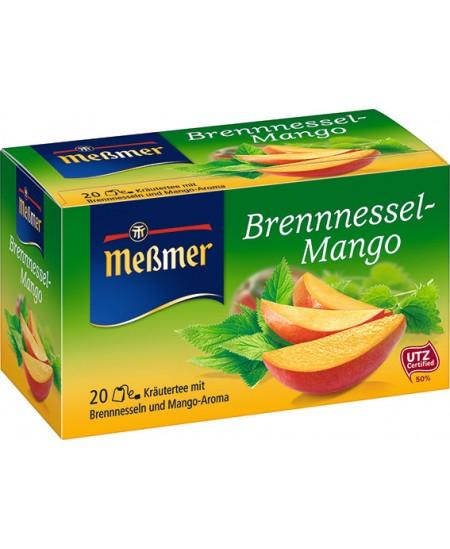 Vaisinė arbata MESSMER, mango-dilgėlių skonio, 20 vnt.