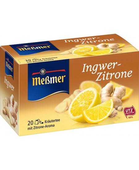Vaisinė arbata MESSMER, imbiero-citrinų skonio, 20 vnt.