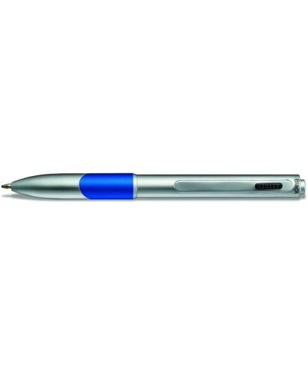 Automatinis dviejų spalvų (juoda+raudona) tušinukas Diplomat Magnum Visa Duo,metalinis korpusas, mėlyna apdaila