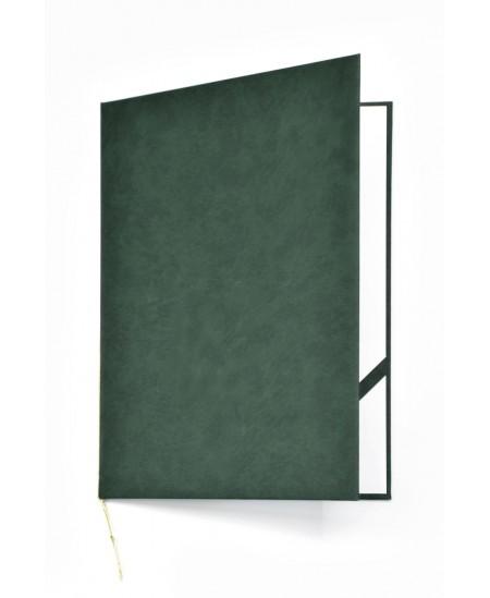 Aplankas sveikinimams ROYAL, minkštas matinis viršelis, A4, žalias