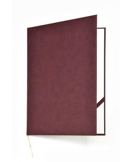 Aplankas sveikinimams ROYAL, minkštas matinis viršelis, A4, vyšninis