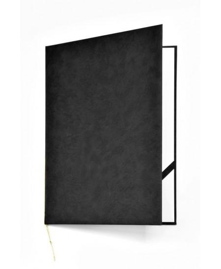 Aplankas sveikinimams ROYAL, minkštas matinis viršelis, A4, juodas