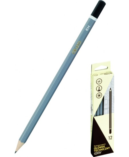 Pieštukas GRAND Technic, padrožtas, 6B