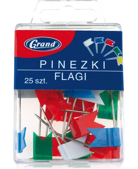 Smeigtukai, galvutė vėliavėlės formos, 25 vnt.