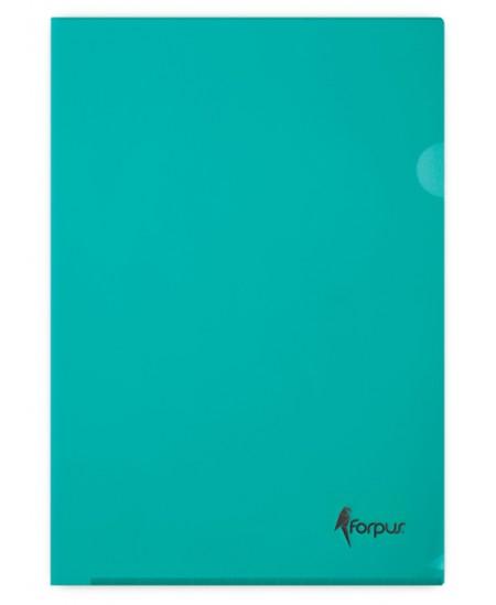 Dėklas L formos FORPUS Premier, 180 mikr., A4, žalias