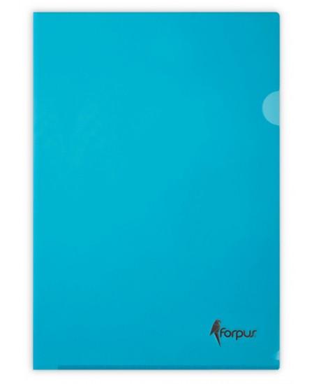Dėklas L formos FORPUS Premier, 180 mikr., A4, mėlynas
