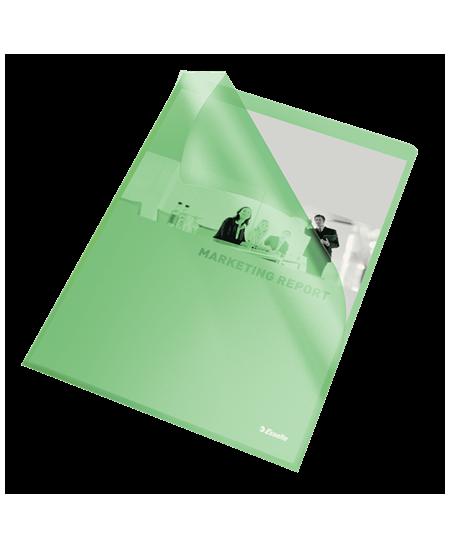 Dėklas L formos ESSELTE, 105 mikr., A4, žalias