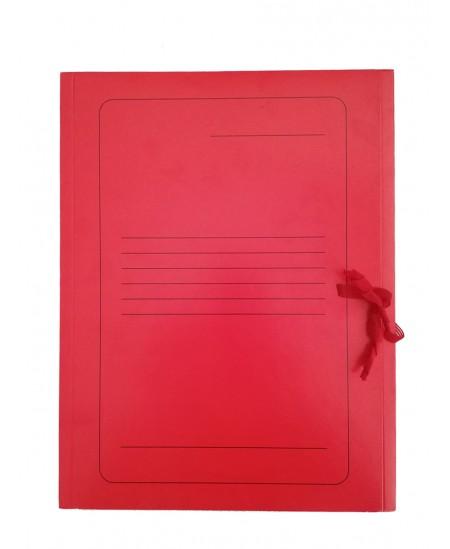 Kartoninis užrišamas aplankas su atvartais SM-LT, 300 g/m2, A4, raudonas