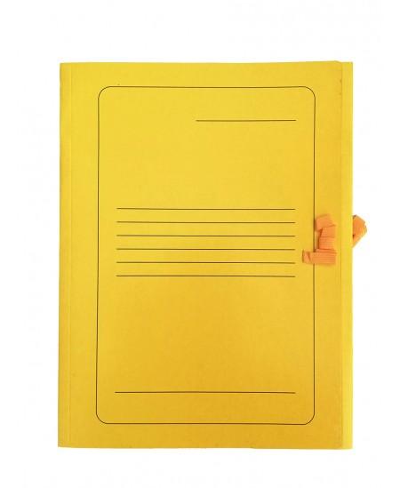 Kartoninis užrišamas aplankas su atvartais SM-LT, 300 g/m2, A4, geltonas