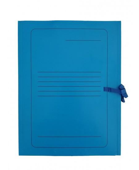 Kartoninis užrišamas aplankas su atvartais SM-LT, 300 g/m2, A4, mėlynas
