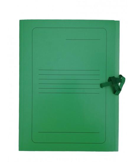 Kartoninis užrišamas aplankas su atvartais SM-LT, 300 g/m2, A4, žalias