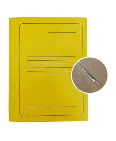 Kartoninis aplankas su įsegėle SM-LT, 300 g/m2, A4, geltonas