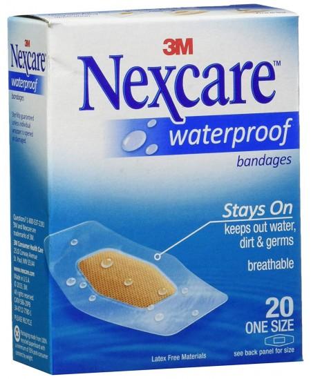 Vaideniui atsparių pleistriukų rinkinys NEXCARE Waterproof, 20 vnt.