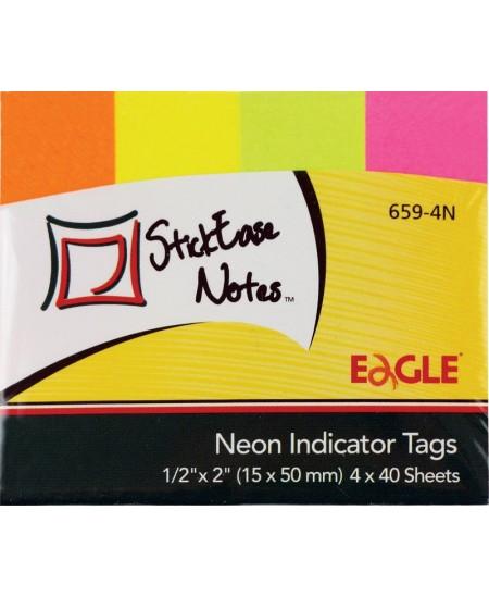 Lipnūs indeksai EAGLE, 15x50 mm, popieriniai, neoniniai, 4 x 40 vnt.