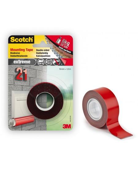 Dvipusė montavimo juostelė SCOTCH® EXTREME, 19 mm x 1,5 m