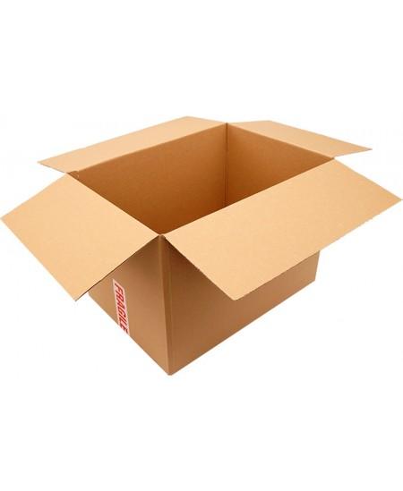 Gofruoto karto dėžės 380x253x228 mm, rudos spalvos, 20 vnt.