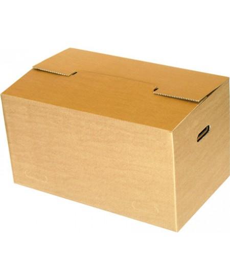 Perkraustymo dėžė su rankenomis 620x370x340 mm, rudos spalvos, 5 vnt.