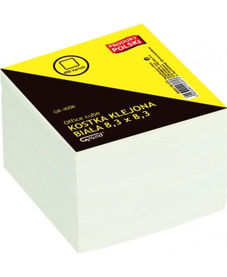 Lapeliai užrašams, 83x83 mm, balti, suklijuoti, 400 lapelių