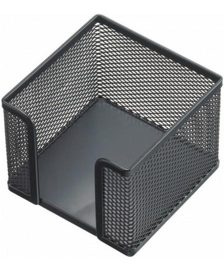 Dėžutė užrašų lapeliams, metalinė, juoda