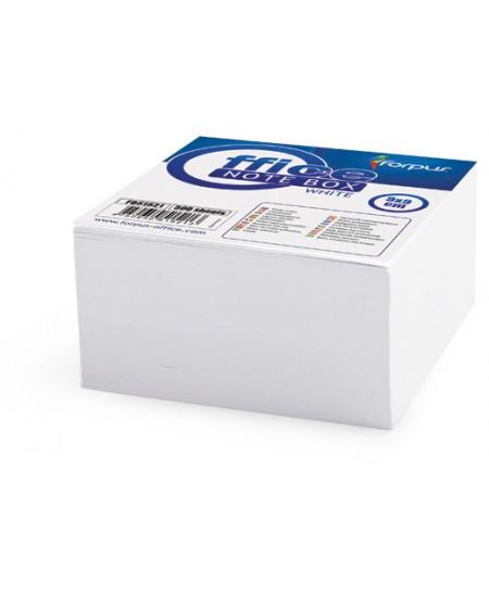 Lapeliai užrašams, 90x90 mm, balti, suklijuoti, 500 lapelių
