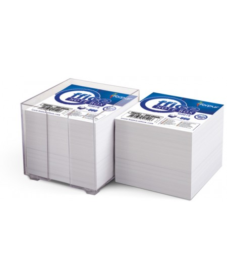 Lapeliai užrašams dėžutėje FORPUS, 90x90 mm, balti, 800 lapelių