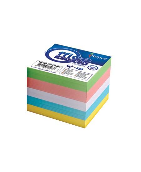 Lapeliai užrašams, 85x85 mm, spalvoti, 800 lapelių