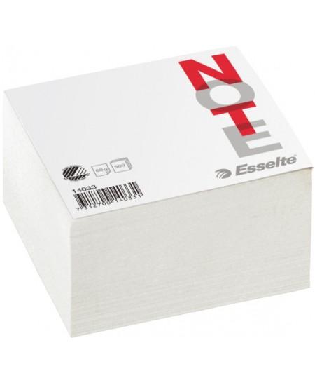 Lapeliai užrašams, 100x100 mm, balti, 500 lapelių
