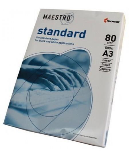 Popierius MAESTRO Standart, 80 g/m2, A3, 500 lapų