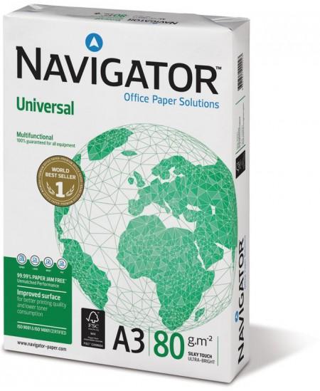 Popierius NAVIGATOR Universal, 80 g/m2, A3, 500 lapų