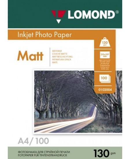 Fotopopierius LOMOND, 130 g/m2, A4, matinis, 100 lapų