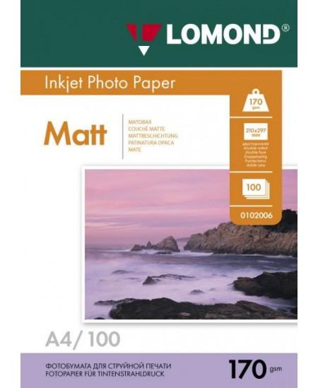Fotopopierius LOMOND, 170 g/m2, A4, matinis, 100 lapų