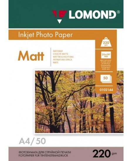 Fotopopierius LOMOND, 220 g/m2, A4, matinis, 50 lapų