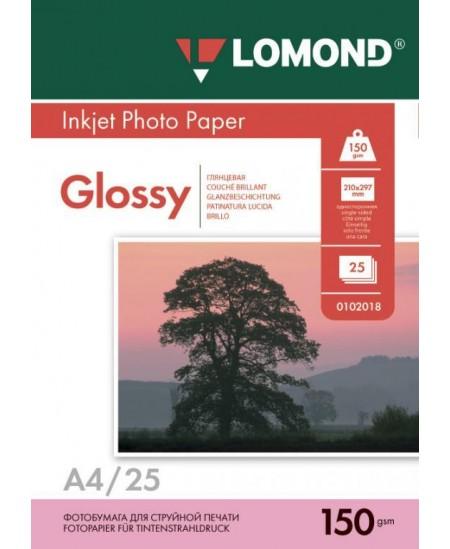 Fotopopierius LOMOND, 150 g/m2, A4, blizgus, 25 lapai