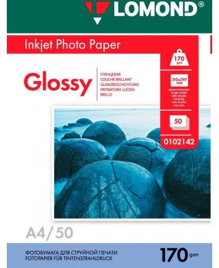 Fotopopierius LOMOND, 170 g/m2, A4, blizgus, 50 lapų