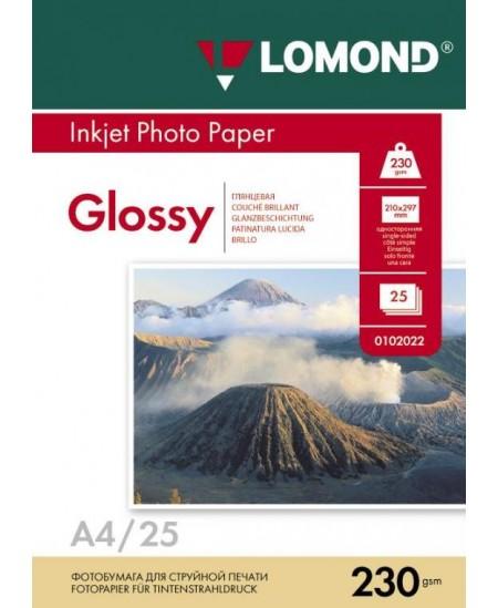 Fotopopierius LOMOND, 230 g/m2, A4, blizgus, 25 lapai